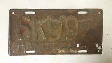 1950 MANITOBA License Plate 6K992