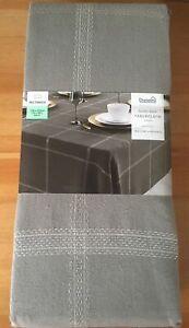 Dunelm Lustre Check Tablecloth Grey 178x230cm - New