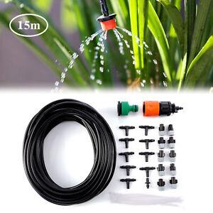 15m Garten Bewässerungssystem DIY Mikro Drip für Gewächshaus Blumenbeet,Terrasse