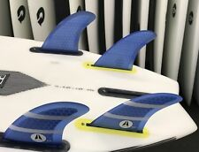 Zenith Surfboard Med Fins Quad + Tri. Vertical Template Hexcore Futures Base