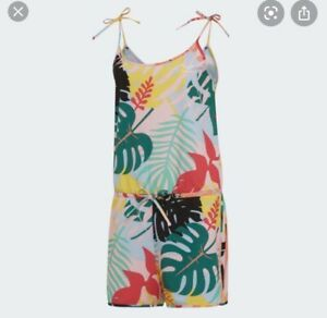 Adidas Jumpsuit Multicolor Tropical Woman All In One Uk12 RRP£70