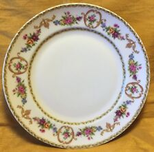 "Rare Tharaud LIMOGES Medaillon Floral Pattern 6.5"" Bread Plate - France"