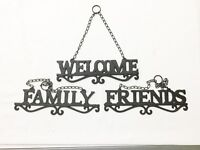 """Cast Iron """"Friends"""", """"Family"""",  """"Welcome"""" Wall Hangings"""