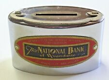 Vintage Chicago Thrift Corp. Chrome Coin Bank The National Bank of Wyandotte