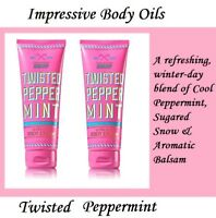 Twisted Peppermint Bath And Body Works Ultra Shea Body Cream 8 oz New!