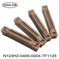 10pcs N123H2-0400-0004-TF1125 Grooving carbide inserts turning indexable inserts