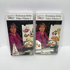 Donna Dewberry One Stroke Workshop Series VHS 1 & 2, Painting Instruction