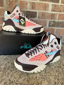 Fila Fixture Hiking Shoe White/Pink/Brown Men's Size 12