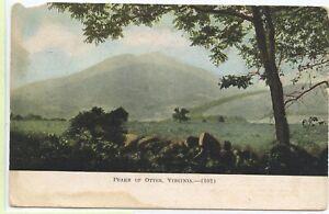 VINTAGE 1912 POSTCARD ~ PEAKSVILLE to REBA, Virginia ~ PEAKS OF OTTER ~ELVA KING