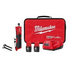"Milwaukee 2486-22 1/4"" M12 Cordless Brushless Straight Die Grinder Battery Kit"