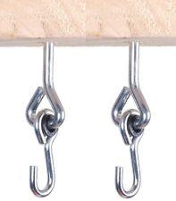 SCREW TYPE PAIR OF METAL SWING HOOK CLIMBING FRAME HANGER M10 INDOOR OUTDOOR