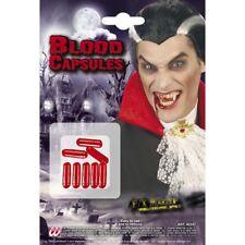 VAMPIR BLUTKAPSELN Halloween Karneval Blut Kunstblut Kostüm Schminke MakeUp 4024