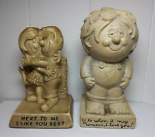 Vintage statues 2 figurines American Greetings Wise Guys next to me, to whom it