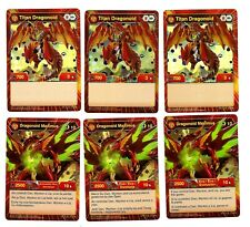 Lot of 6 Rare Bakugan Cards Dragonoid Maximus Titan Evo Hex Foil IDR GPP EFS EX