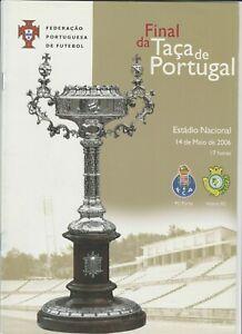 Orig.PRG  Portugal Cup  2005/06  FINAL  FC PORTO - VITORIA SETUBAL  !!  RARE