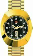 Vintage Rado Diastar Automatic 36mm Black Dial Swiss Made Men's Wrist Watch
