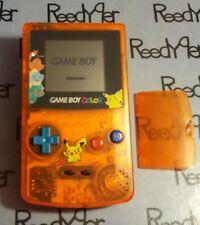 Gameboy Color Pokemon Pikachu Edition Nintendo System Clear Orange Game Boy GBC
