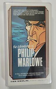 Adventures of Philip Marlowe Time Radio Show 9 Hours 6 Cassette Tapes Clamshell