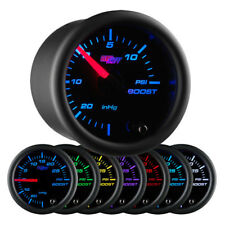 Black 7 Color 15 PSI Boost/Vacuum Gauge GS-C701_15
