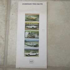 VOLVO 244DL 244 DL Saloon Compare the Facts Comparison Brochure 1978