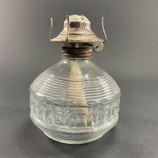 VINTAGE KAADAN PRESSED GLASS KEROSENE BURNER KERO LANTERN OIL BURNER LAMP