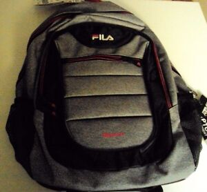 Fila Argus Backpack/laptop bag Style FL-BP-1355 Gray and black and pink