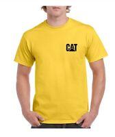 Caterpillar Yellow T-SHIRT Work wear Men's Tee Shirt