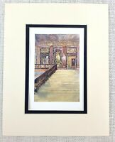Il Palazzo Di Versailles Interno Grand Marmo Scalinata Antico Stampa Ca. 1906
