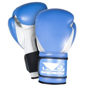Bad Boy MMA Training Series Boxing Gloves Blue Kick Punch Mitts Sparring
