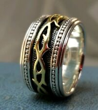 A King Ring Sz10 Mint Condition Scott Kay 18k & .925 Thorns Of