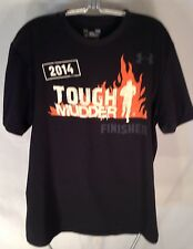 D403 Under Armour 2014 Tough Mudder Finisher Graphic T-Shirt Size LARGE