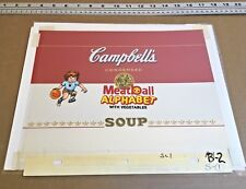 Campbells Soup Production cel Key Master background painted ** Andy Warhol