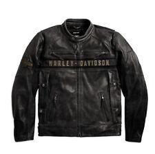 Genuine Harley-Davidson Mens Passing Link Leather Riding Motorcycle Jacket 98074 Large
