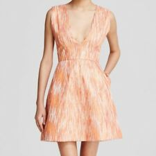 Alice + Olivia Orange Pacey Lantern Sunset Dress NWOT $385