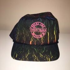 Vtg Indian Trails Michigan Where The Adventure Is Nylon 1990s Snapback Hat
