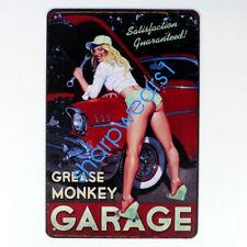 Metal Tin Sign sexy lady garage  Decor Pub Bar Home Vintage Retro wall sign