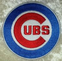 """Chicago Cubs 3.5"""" Iron /Sew On Embroidered Patch~FREE SHIP!~US Seller!"""