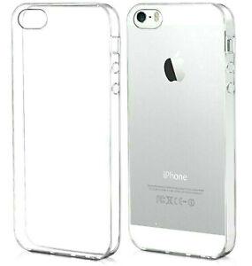 COVER per APPLE iPhone 5 5s TRASPARENTE Ultra SOTTILE Morbida TPU Slim SILICONE