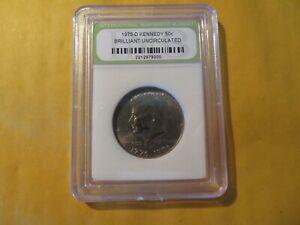1976 D BU Slabbed Kennedy Half Dollar #156