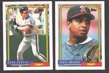 Cromos de béisbol de coleccionismo California Angels
