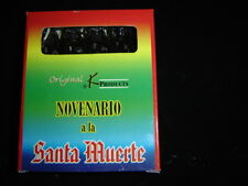 NOVENARIO NEGRO  A LA SANTA MUERTE candles BLACK velas prayer