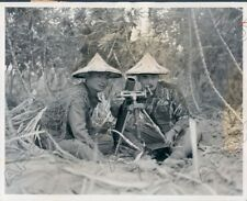 1958 Chinese Nationalist Soldiers Mortar Crew Ready On Formosa Press Photo