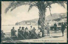 Genova Santa Margherita Pizzo Merletti Tombolo cartolina QK7252
