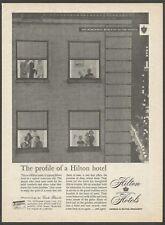 HILTON HOTELS -1961 Vintage Print Ad