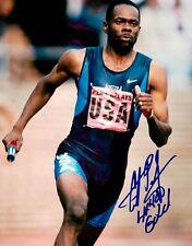Antonio Pettigrew Signed 8x10 Olympic Sprinter Timeless Legends COA