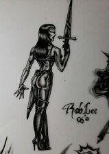 "Tattoo Warrior princess wizard 11"" × 8"" laminated copy tattoo ideas y4"