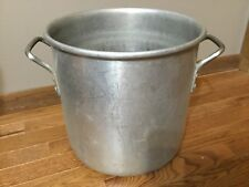 Vintage Dura-Ware Aluminum 24 Quart  Heavy Duty Crab Boil Stock Pot Look NICE!