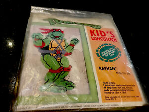 Teenage Mutant Turtles Longstitch Raphael Kit No 3201 0002-Australian-New-Rare