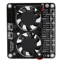Mini LED Dual Cooler Fan GPIO Expansion Board for Raspberry Pie 4B 3B+ 3B 3A+