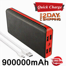 New Charger 900000mAh 4USB Power Bank Fast Charge Battery Pack for Mobile Phones